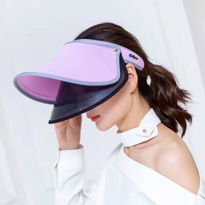 2020 Новое прибытие 6 цветов Женский Летний двойной козырек шлема Слейте Верхняя крышка Защита от ультрафиолетовых лучей езда ВС Hat Бич козырька шапки нового