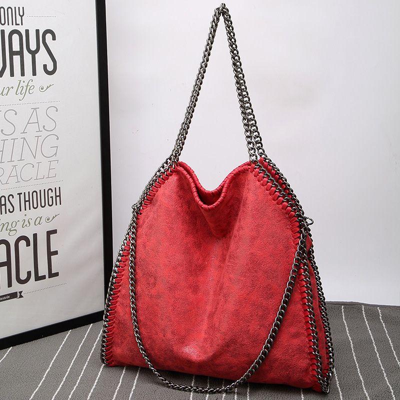 2020 marque chaîne Femme Sac Solide Couleur Pliable Tide Shoulder Bag Paquet Femme Pu Mat Sacs en cuir Womens de luxe de sacs à main Sac