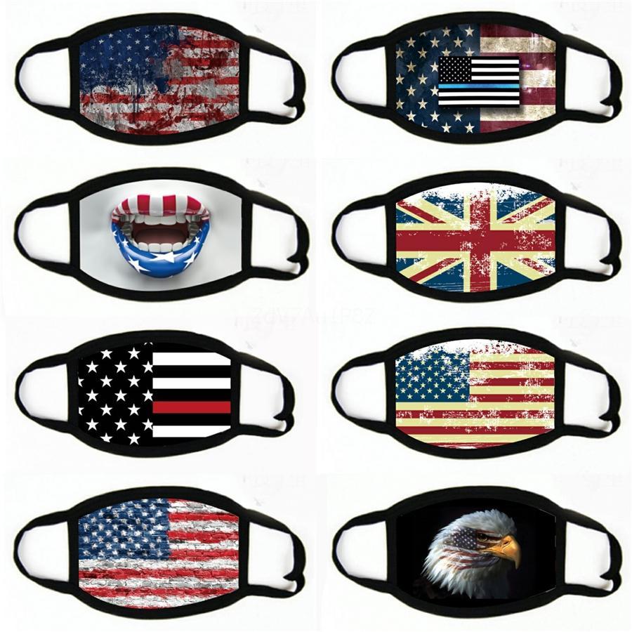 2020 New Designer Máscara Facial Impresso, máscaras Anti Poeira Esponja Pano Bandeira Padrão Boca Máscara # 657