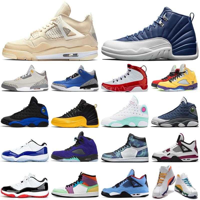 nike air jordan retro 1 11 12 13 5 4 açık basketbol ayakkabıları yetiştirilen 1s 11s Concord 12s Indigo 13s Flint 5s ne 9s yelken 4s bayan erkek eğitmenler Spor Sneakers