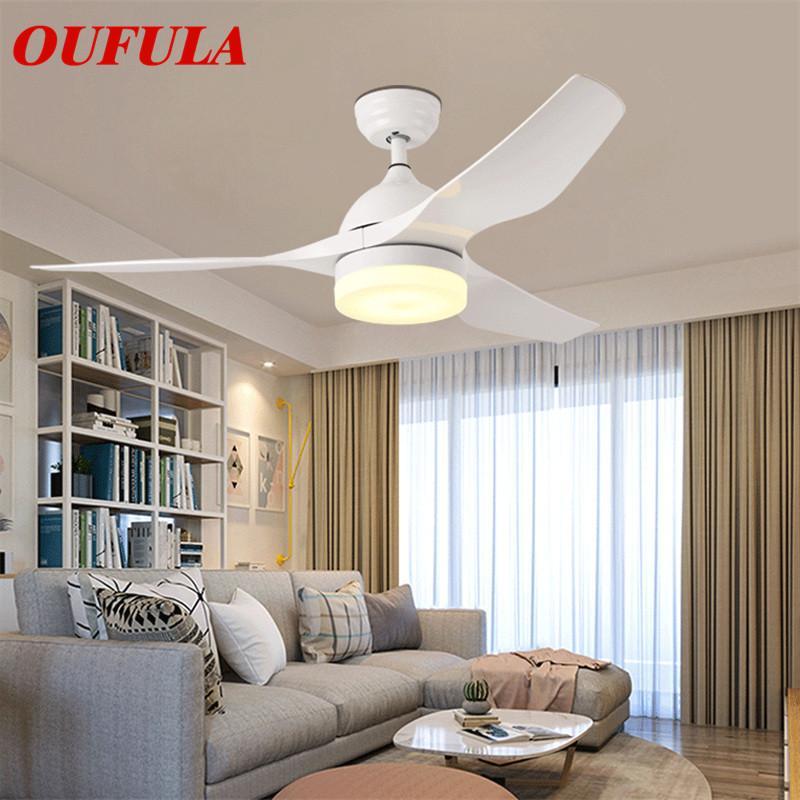 OUTELA Современные потолочные вентиляторы Свет лампы с дистанционным управлением вентилятора освещения Подходит для столовой Спальня