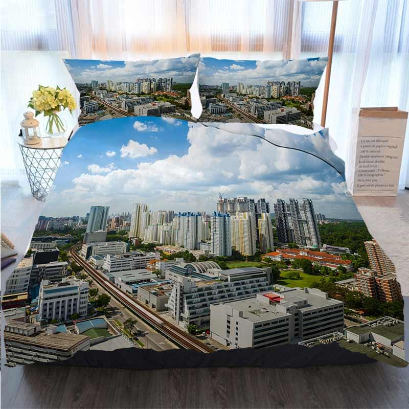 Bedding 3 Piece Duvet Cover Sets Arial View Of Redhill Housing Estate Singapore Home Luxury Soft Duvet Comforter Cover