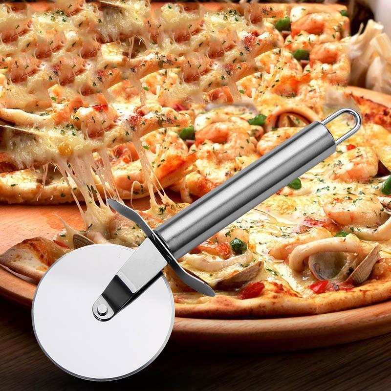 قبضة جديدة الفولاذ المقاوم للصدأ 430 المعجنات نونستيك بيتزا القاطع عجلة القطاعة بليد