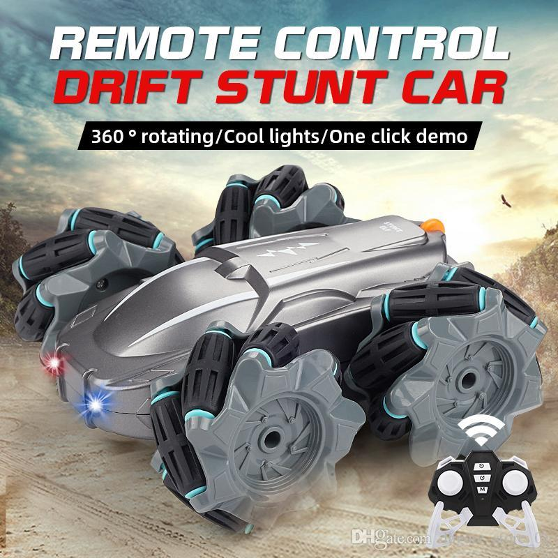 RC Drift Stunt Car 4WD Radio Control Climbing 360 Rotate RC Car Toy Kids Electric Car High Speed Climbing Off Road Vehicle Toys