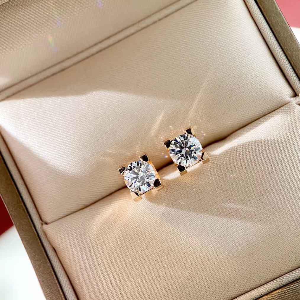 Luxuriöse Qualität Stud Ohrring 60 '' Diamant und Halskette 1 Okt Diamond in verschiedenen Größen Diamant für Frauen Hochzeit Schmuck Geschenk Freies Shipp