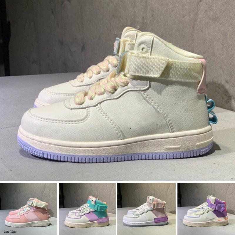 Fuerzas Nuevas 1 sombra zapatos grandes de los niños para los niños Aire Niños bebés Uno de chicas Dunks entrenadores deportivos zapatillas de deporte de los zapatos corrientes 24-35