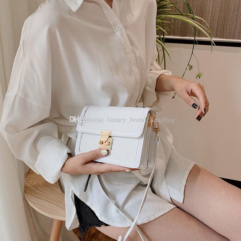 فاخر مصمم جديد المحفظة الكلاسيكية حقيبة يد السيدات أزياء شفافة قابض حقيبة جلد ناعم رسول أضعاف حقيبة حقيبة يد مع مربع