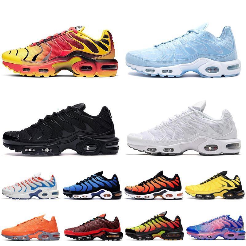 Nuovo arrivo TN Plus SE scarpe da corsa per gli uomini gialli luminosi triple nero bianco delle donne Total Orange delle scarpe da tennis di sport mens allenatore