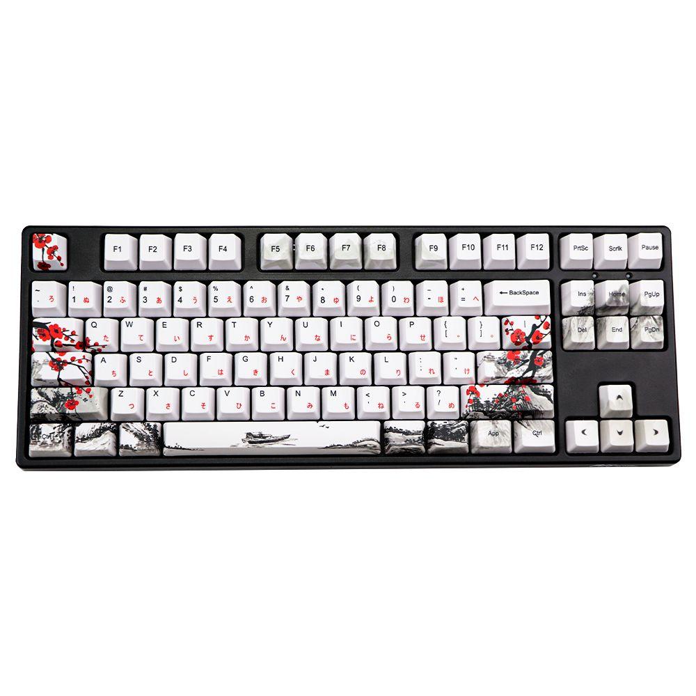 Новинка Allover Dye Subbed Plum Blossom110 Ключи OEM Профиль Класс для продукта для DIY Механическая клавиатура Корейский Японский символ Keycaps LJ200922