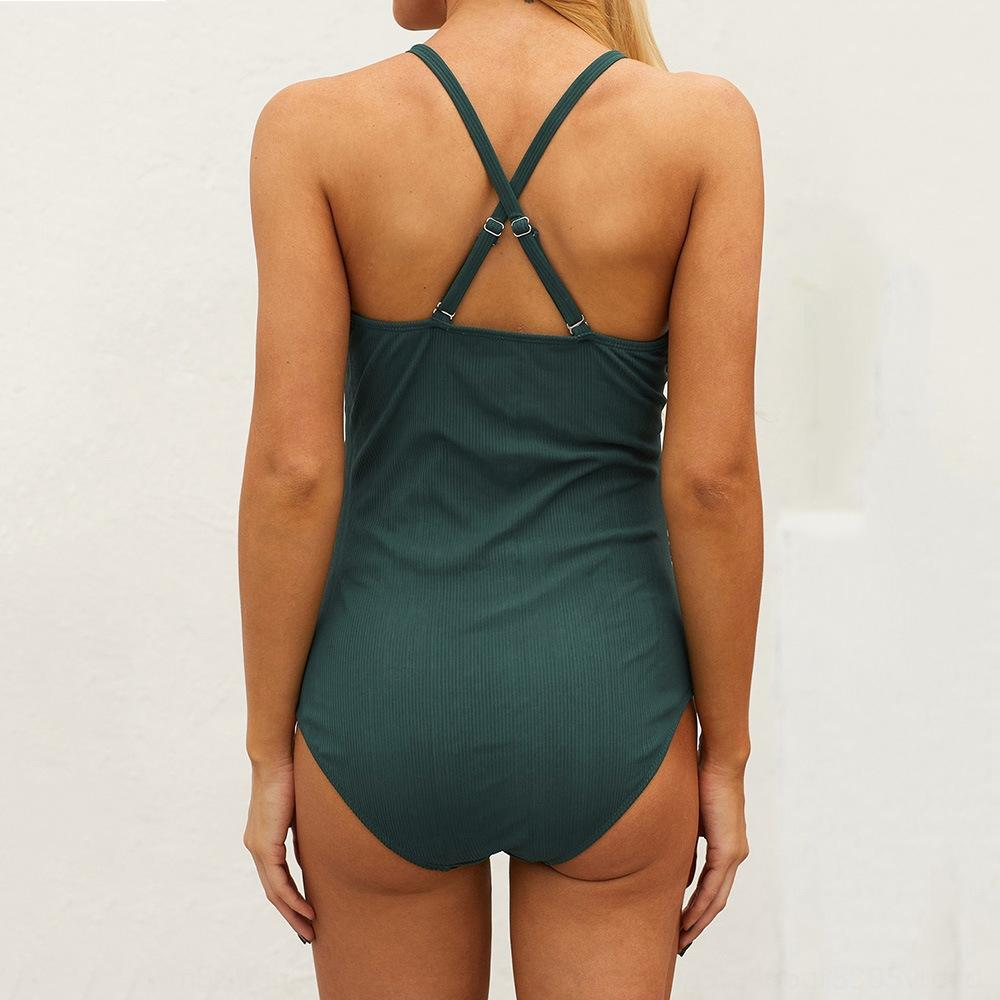 XCJsr enceintes simple pièce de femmes conception d'une seule pièce ventre couvrant sexy-ventre soutien lâche plage maillot de bain maillot de bain maillot de bain