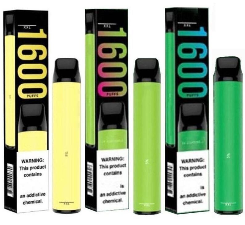 10colors 최신 퍼프 XXL 일회용 vape 장치 1600+ 퍼프 일회용 사전 채워진 4ml vape 펜 퍼프 플러스 전자 담배 일회용 스틱