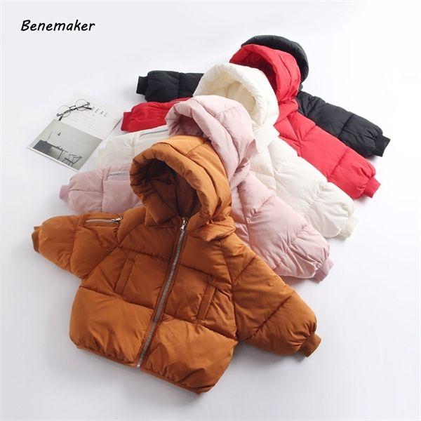Benemaker Winter Overalls For Children Boy Girl Jackets Kids Warm Parkas Clothing Baby Windbreaker Hooded Coats Outerwears AY119 C0924