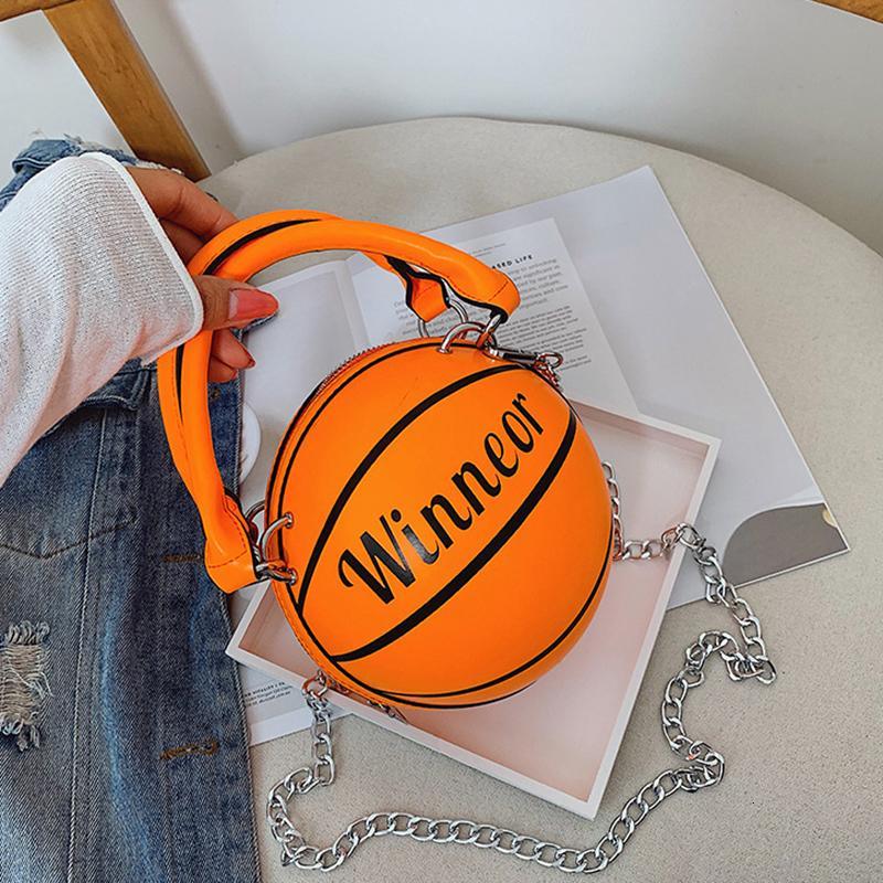 Piccolo colore fluorescente del sacchetto di mano di modo delle donne Lettera borsa creativa Shoulder Bag Messenger Mini rotonda Tote