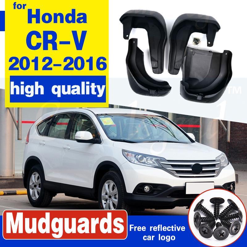 Set Moulé boue Rabats pour Honda CRV CRV 2012 - 2016 Mudflaps Pare-boue avant boue aileron arrière Garde-boue Fender 2013 2014 2015