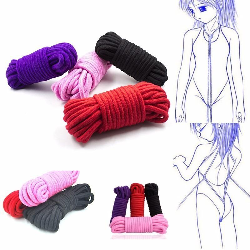 5M 10M SM Rope SM Bondage Rope bdsm sex product for adult femdom Bondage sex Cotton for women couples's Game chastity belt