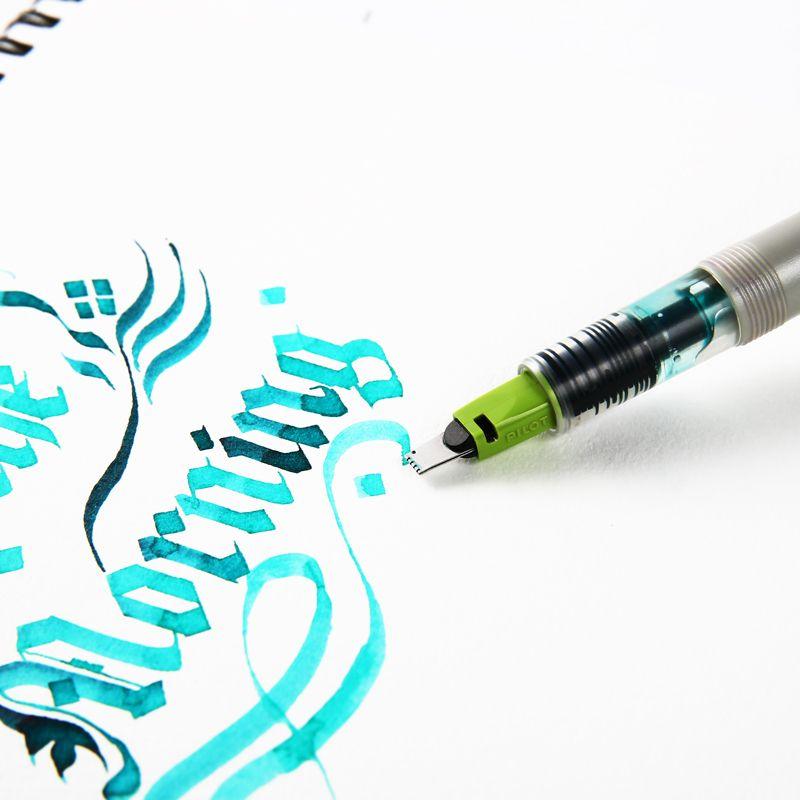 Liner Pen Englisch Kalligraphie Gradient Pinsel Tinte Parallel-Entwurfs-Feder-Set 1.5mm 2.4mm 3,8 mm 6 mm mit Bonus Ink