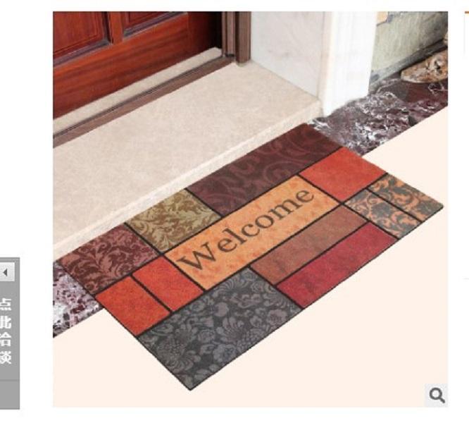 2020 горячей продажи последний тип Doormat натурального каучука поверхности стекаются противоскользящим ковриком пола скольжения 45 * 75см 08
