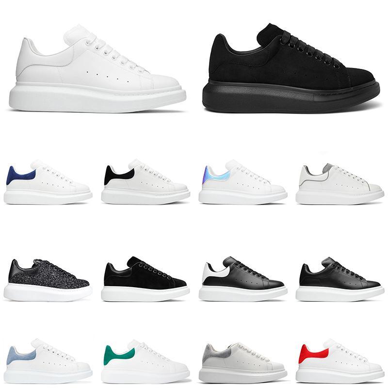 com caixa de alta qualidade plataforma sapatos ao ar livre chaussures homens mulheres moda sapatilhas preto glitter camurça couro homens treinadores jogging andando