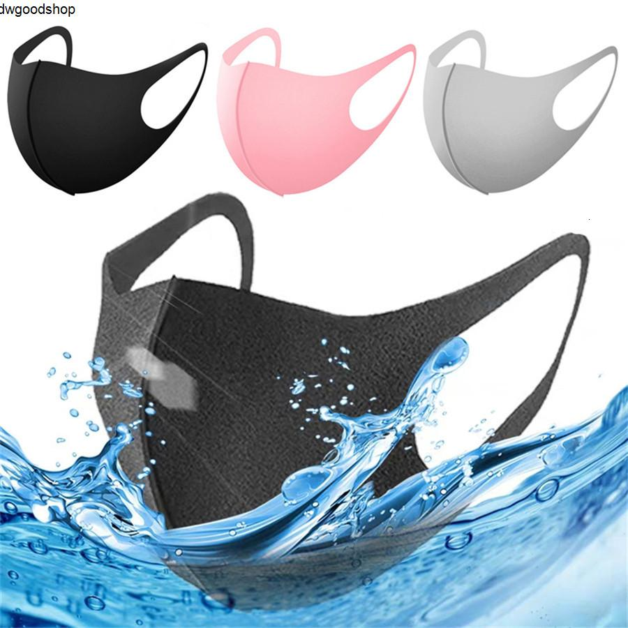 Ice Silk Maske Anti-Staubschutz PM2.5 Respirator Staubdichtes Waschbar Wiederverwendbare Black Cotton Adult Kid Gesichtsmasken