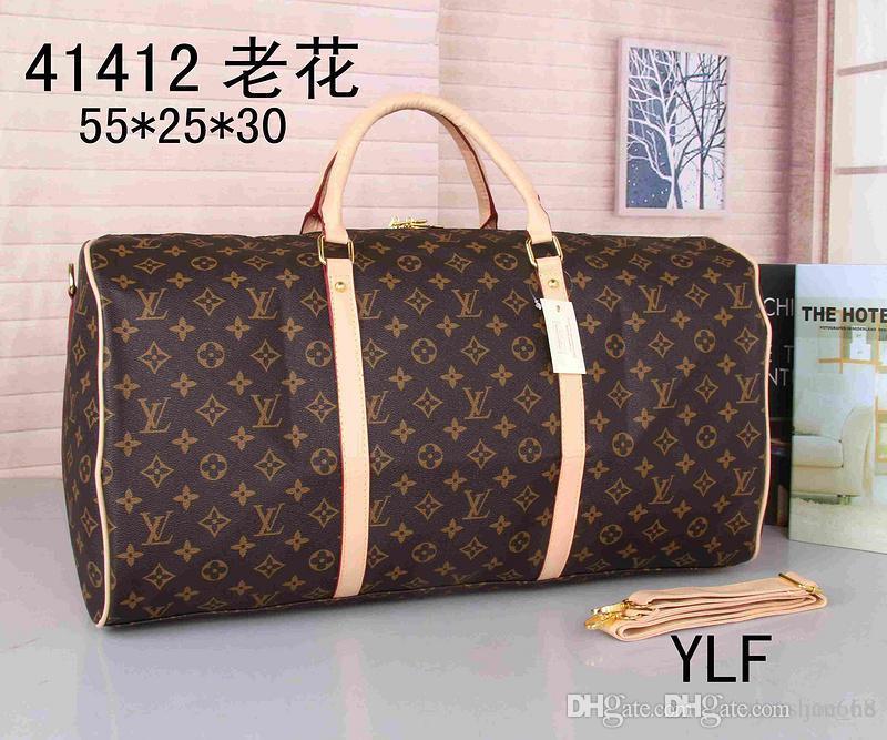 Designer-2019 nuovi designer luxurys borse della borsa in vera pelle di alta qualità dei fiori modello dei bagagli di viaggio da viaggio trasporto libero