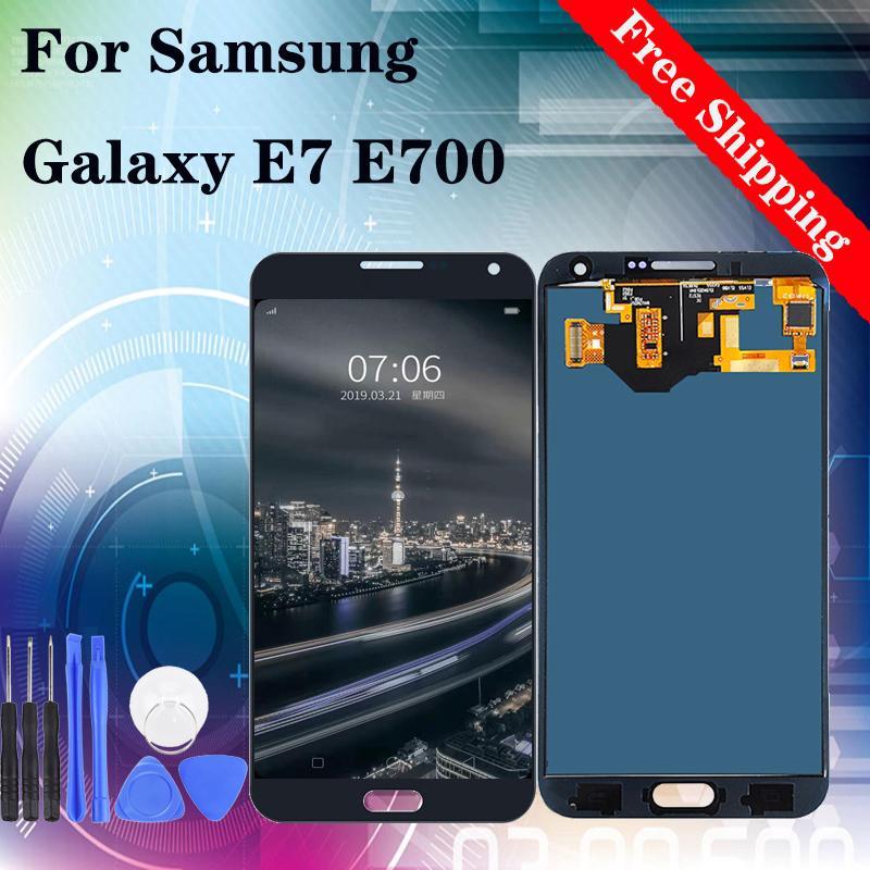 SAMSUNG GALAXY E7 E700 E700F E7000 E7009 E700H E700M LCD Ekran Dokunmatik Ekran Sayısallaştırıcı Meclisi Değiştirme TFT parlaklığı ayarlanabilir İçin