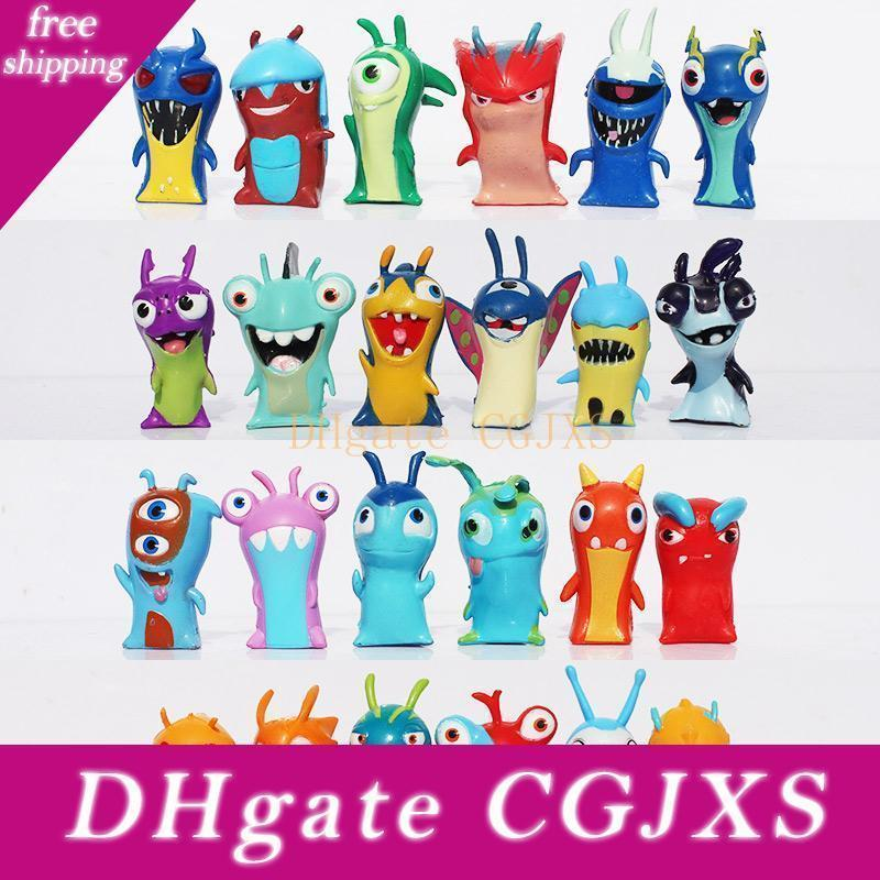 Slugterra Pvc Dolls 24pcs /Set 4 -5cm Cartoon Slugterra 2 Action Figures Pvc Plastic Dolls Toys Gift For Christmas Gift Free Shipping