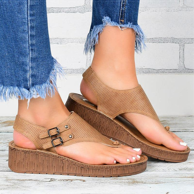 Femmes Sandales 2020 Sandales plate-forme avec Compensées Chaussures pour femmes Sandales d'été chaussure femme Tongs Talons Wedge Sandalias