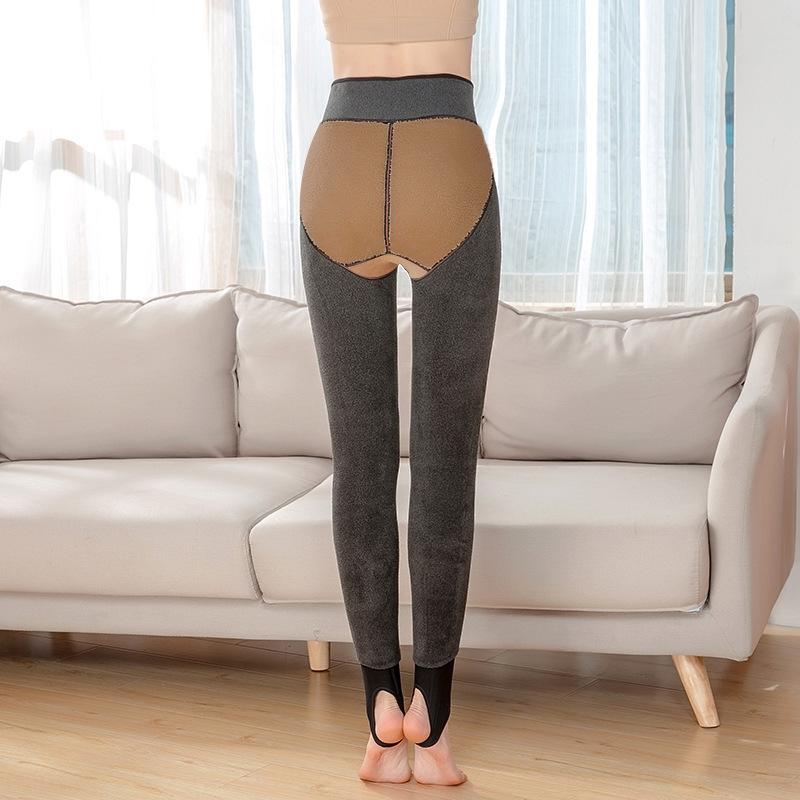 Inverno cordeiro veludo Barbie fleece engrossado slim-fit apertadas calças apertadas Macacão calças leggings hip-lifting caxemira Peach Hip tudo-em-um pan