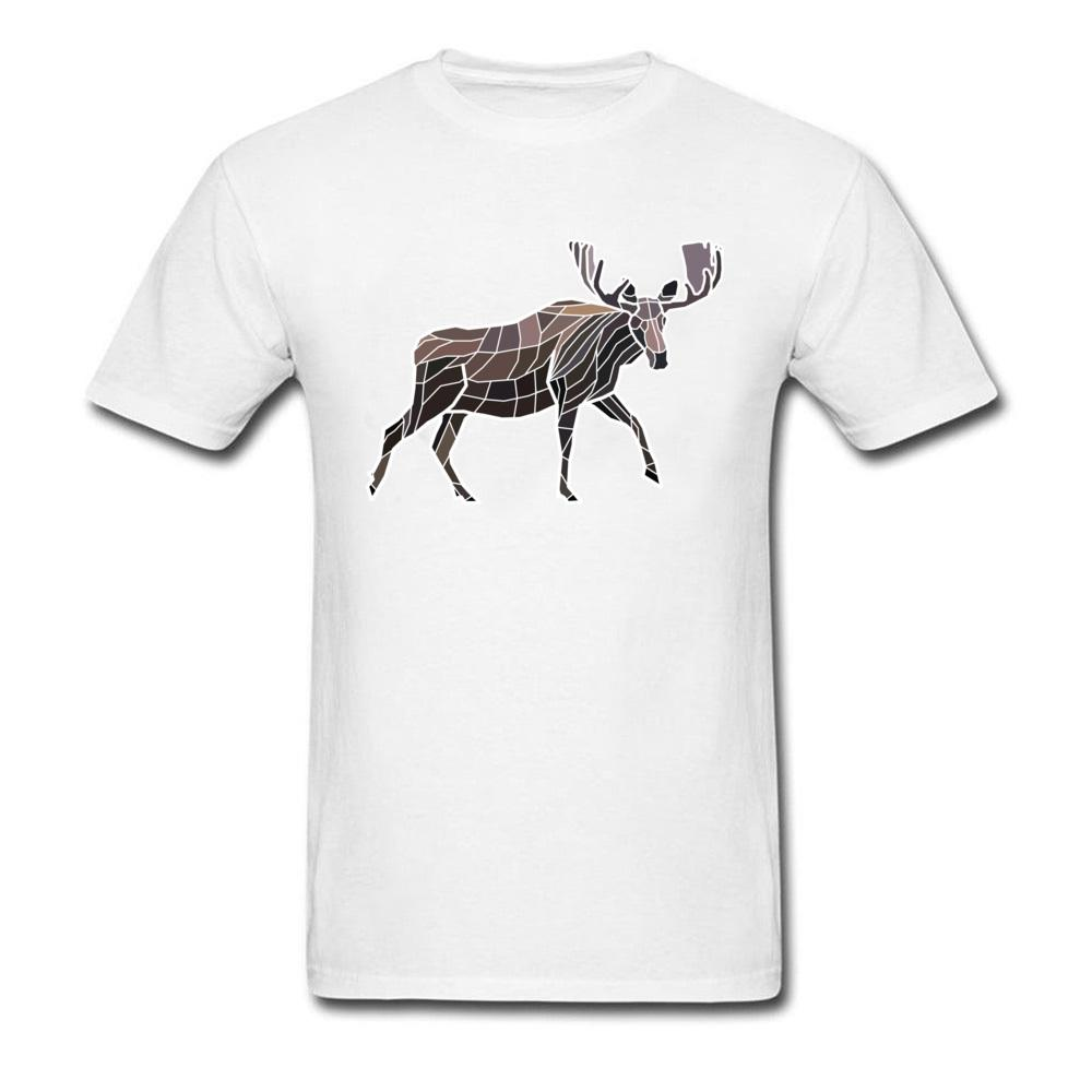 Geométricos mosaico Moose Camisetas Hombre Casual verano remata la camisa Eminem manera de la manga de impresión Elk T-Shirts O Cuello Serbia