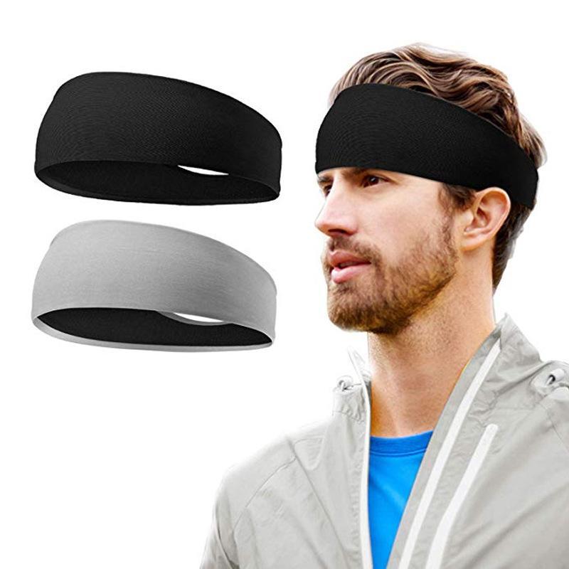 Direto de fábrica de alta qualidade homens de alça Sports Yoga executando Anti-Sweat Headband Basketball Academia Wicking Lazer Headband Atacado Spo