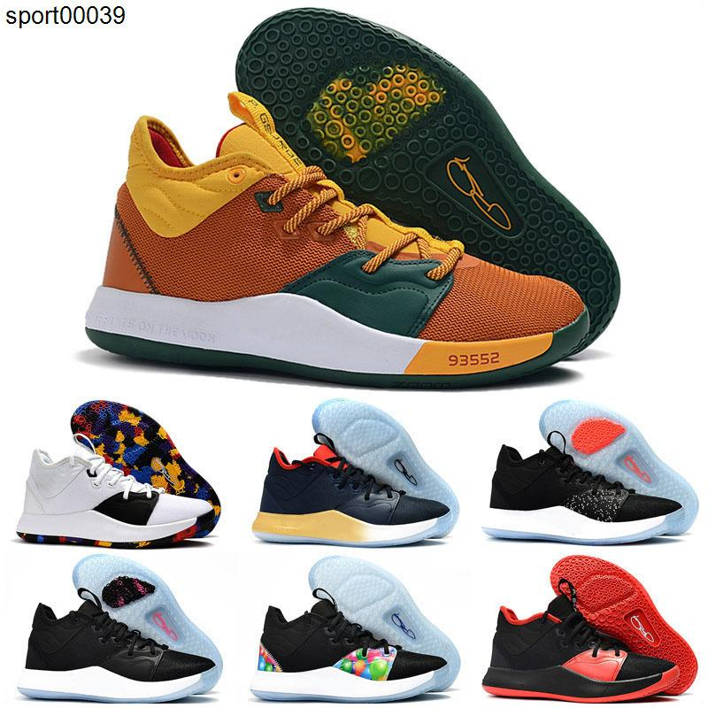 2020 New Paul George 3 PG 3s Palmdale White Gold Men Basketball Shoes Mens 3s Outdoors Athletic Sports Sneakers trainers Chaussures