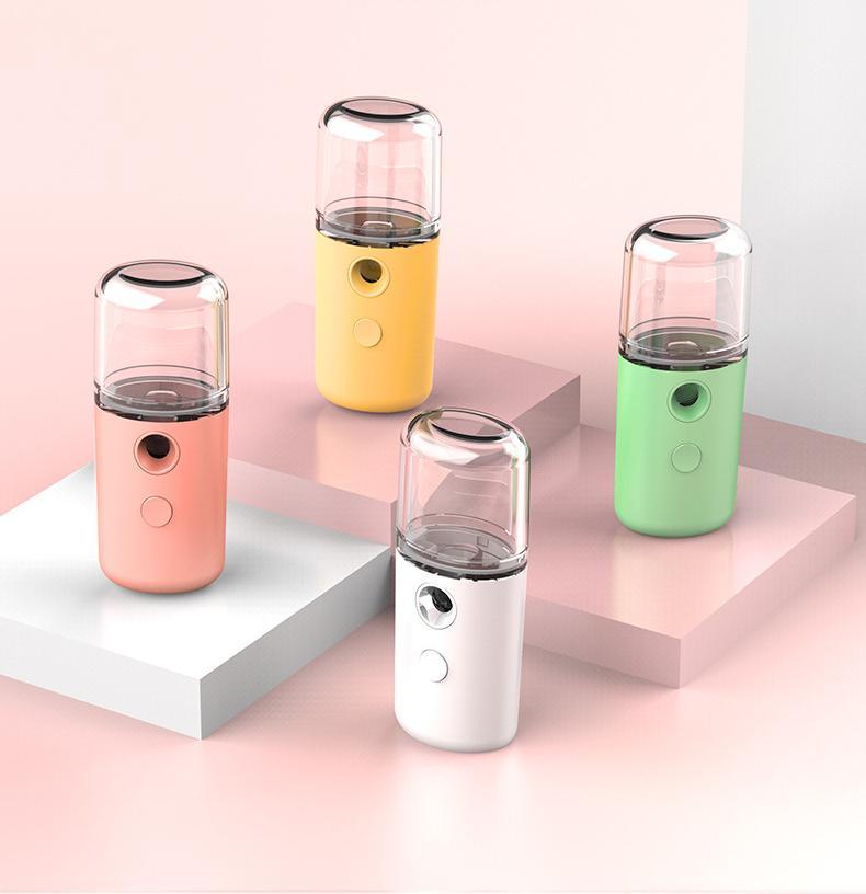 Nano Mini Facial Steamer USB portable rechargeable humidificateur d'air portable eau Mist Pulvérisateur machine pour Bureau brumisateur Maker