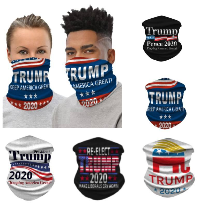 2020 trump face mask washable for American great againTrump stop dust mask outdoor bicycle neck magic scarf silk scarf