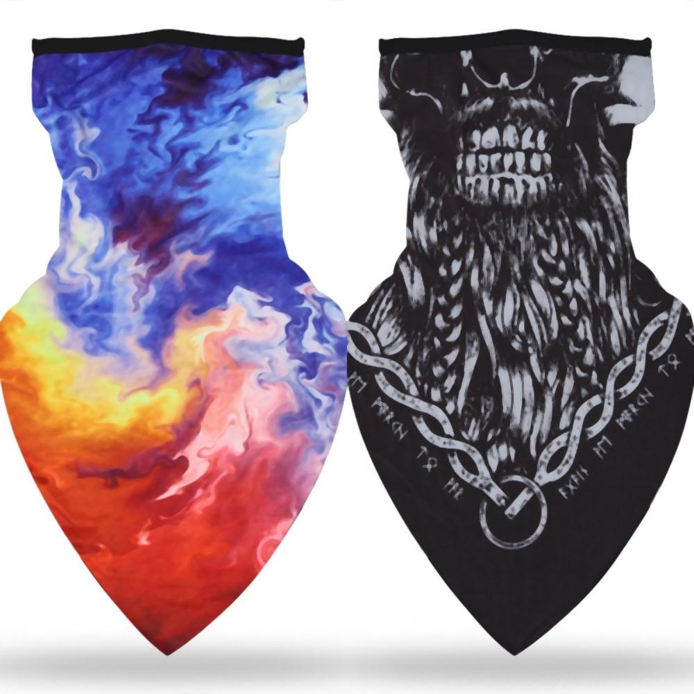 Protección solar triángulo de seda del hielo de la bufanda Parejas Diseñador impresión Ciclismo a prueba de viento al aire libre de la bufanda con capucha bufanda de la manera zKoRC