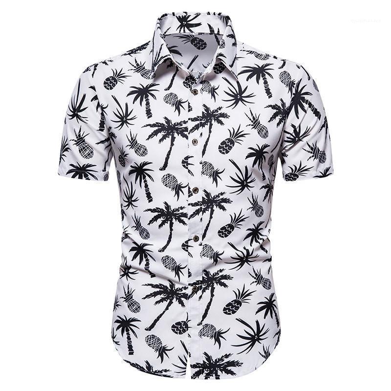 Color Short Sleeve Shirts Mens Clothes Floral Print Mens Designer Shirt Lapel Neck Casual Shirts Fashion Natural