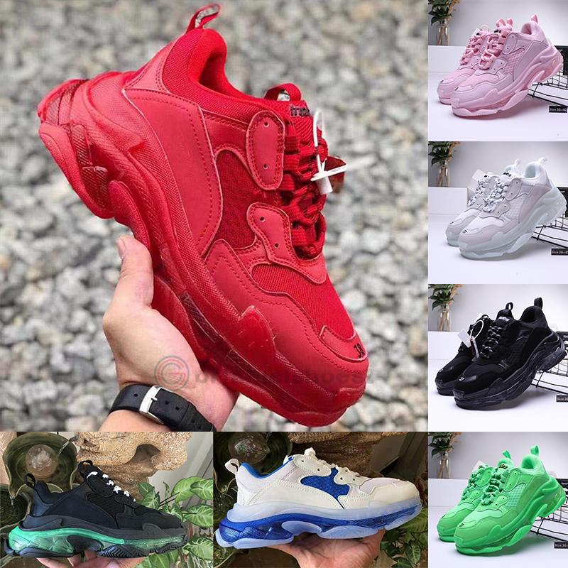 Rosso Verde Sneakers per Scarpe da ginnastica Uomo 2020 scarpe Tripler piattaforma Triple S Vintage Old Dad Scarpe 17FW modo chiaro Sole Nero Borgogna
