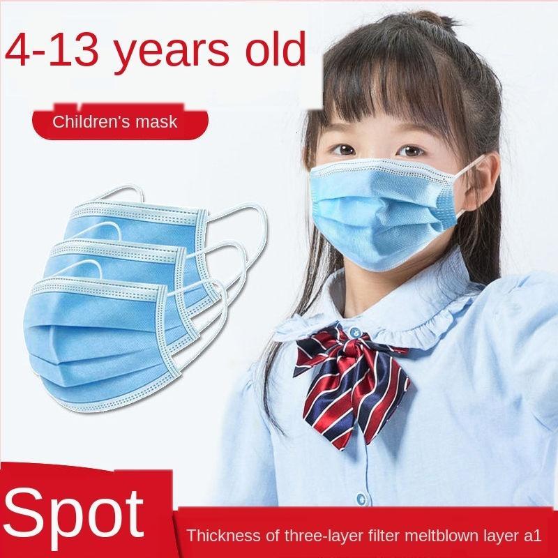 Lav Bezi ile Çocuk Tek Üç katmanlı Koruyucu Öğrenci Maske