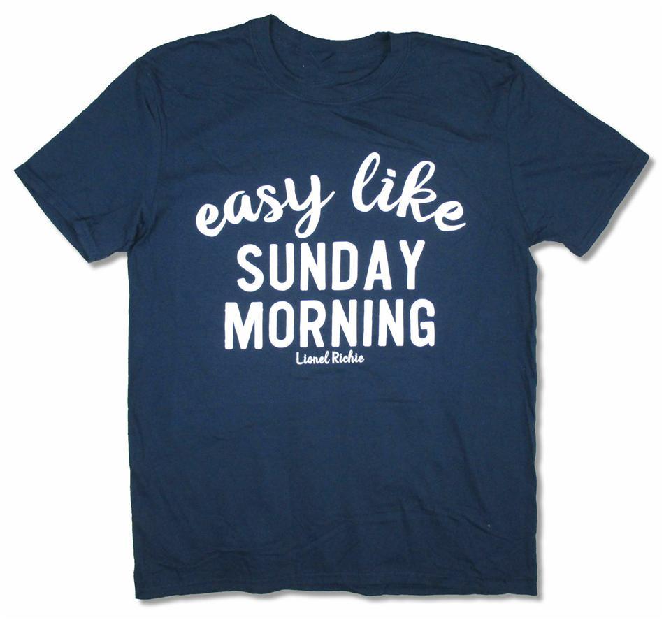 Lionel Richie Kolay gibi Pazar Sabah Mavi Tişörtlü Yeni Ürün Ek Tee Gömlek Nefes Erkekler Üstler