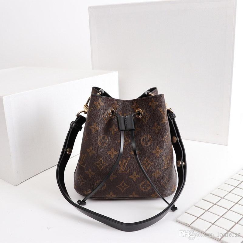 Os sacos de ombro famosos impressos bolsas de couro mulheres sacos de alta qualidade bolsas mensageiro estilo preppy transporte Marca Bucket saco gratuito