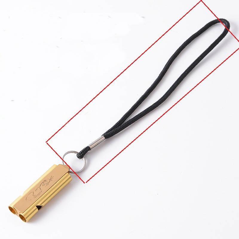 Correa universal silbato Protable mano la cuerda Negro con 7CM 1.5cm llavero X307