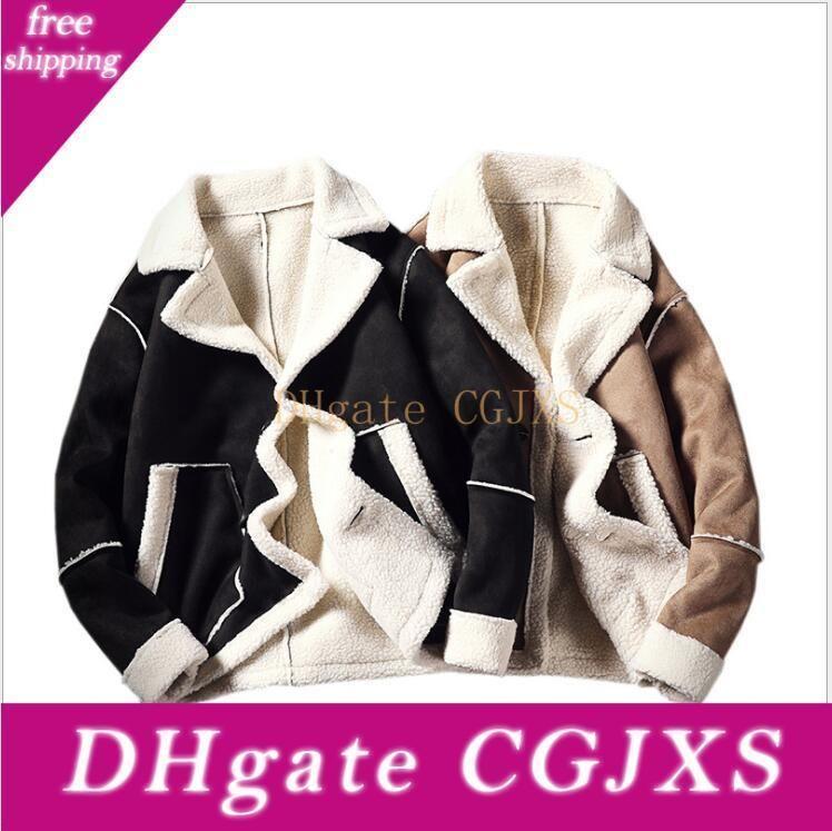Fashion Winter Men S Cotton Coats Korean Version Of Loose Lamb Fur Jackets Couples Wear Cotton Clothes Brushed Warm Coats Plus Size S -5xl