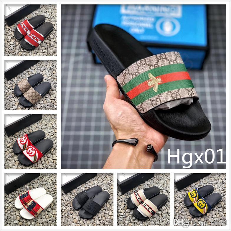 2020 vendita calda diapositive Summer Beach coperta piatto G donne degli uomini pantofole dei sandali Casa Flip Flop Con Spike Luxury Fashion Designers Sandalo 719.192