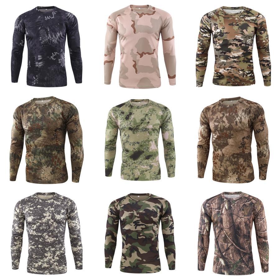 Langarm-T-Stücke Männer beiläufige Kleidung der Männer Knopf-T-Shirts Frühlings-Designer Solid Color # 921