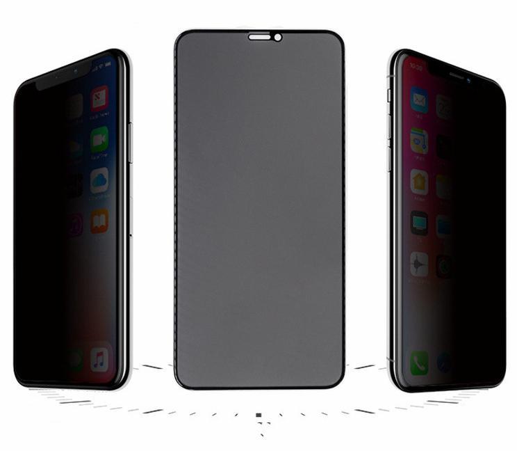 30 ° Alta definição Serigrafia Privacidade vidro temperado Film Adequado para iPhone 11 pro max 6 7 8 mais Privacy Protection temperado Film