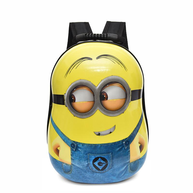 Moda Design Dzieci Plecak 3D Plecak Torby Kreskówka Dzieci Baby School Bags Cute Yellow People Schoolbag Dla Przedszkola Boy and Girls Gift