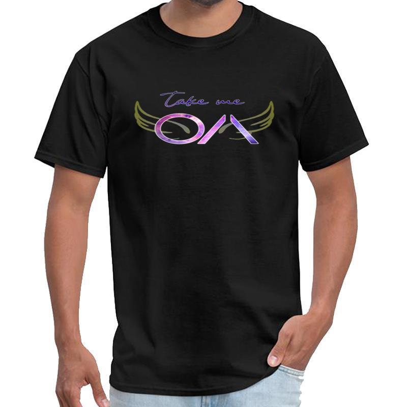 La OA personalizado synthwave camiseta caballeros camiseta 3XL 4XL 5XL lema