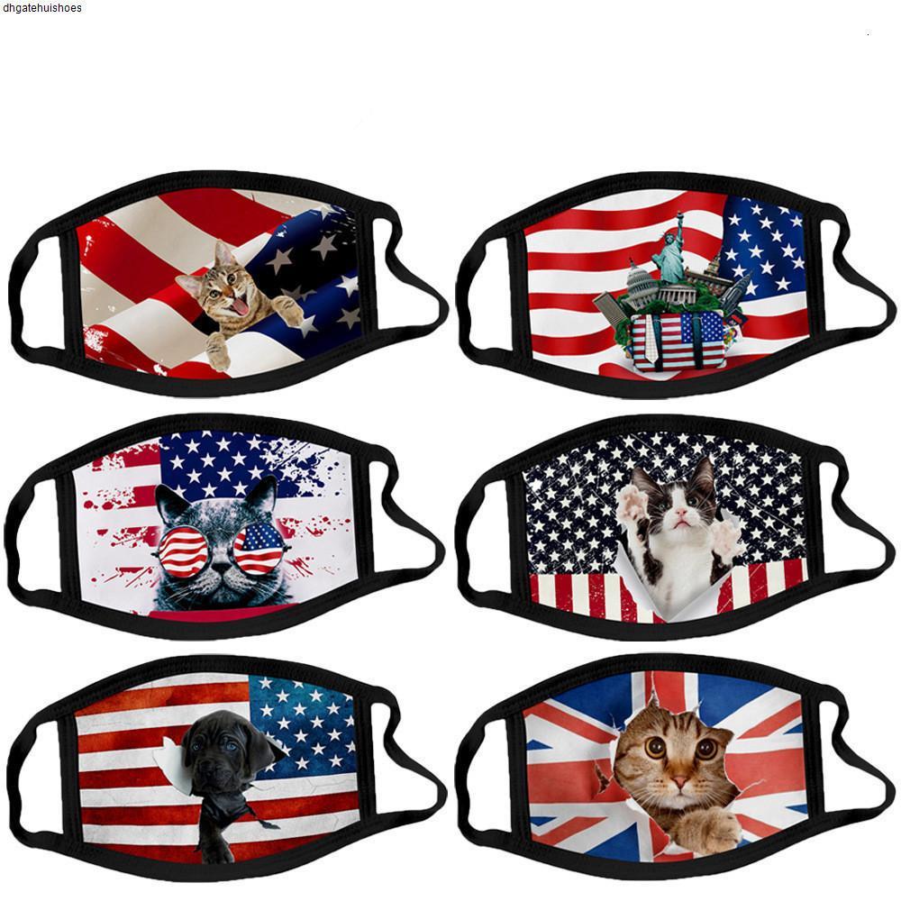 Anti-Dust Kid Взрослый маска Независимость Флаг лица Рот хлопок США День 4 июля Женщина Мужчины Мужская мода Теплый 34 Стили 2TEG