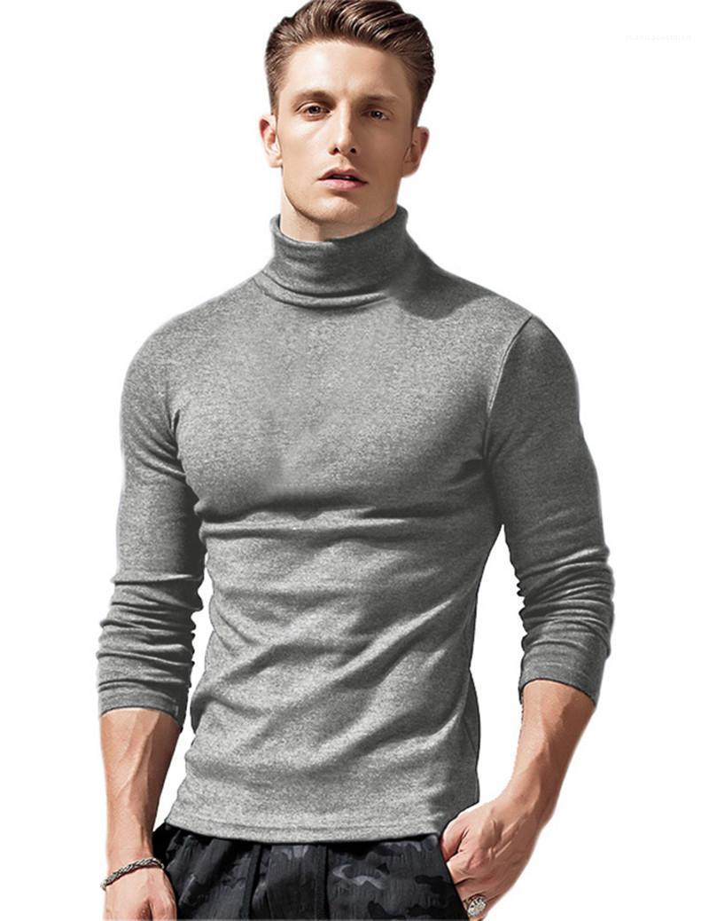 Свитер Мода Solid Color Тонкий Свитеры Mens Теплый пуловер Tops Mens конструктора Bottom