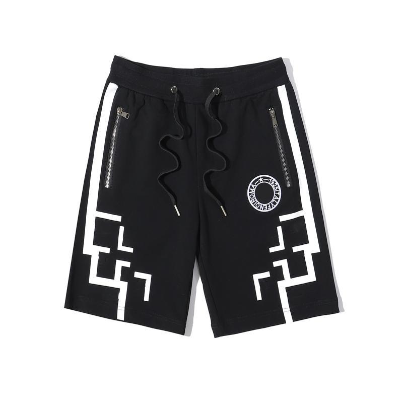 Shorts de plage Mode Lettre Hommes Hommes Imprimer pantalons courts d'été Hommes Casual respirant Couleur Noir Trunks Natation asiatique Taille M-2XL