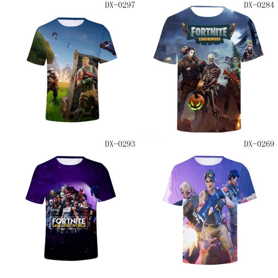 2020 Летняя мода Повседневная роскошь людей 3D Fortress Night T-Shirt Лето дышащий шею с коротким рукавом Крепости Night T-Shirt F # 957
